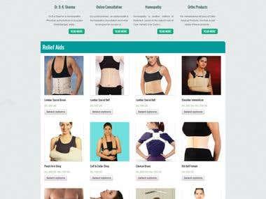 An eCcommerce website www.reliefaids.com