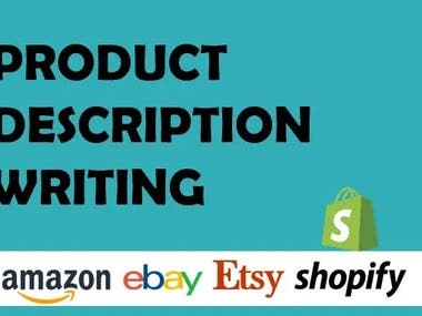 Product description writing