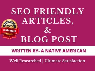 SEO article/blog content writing
