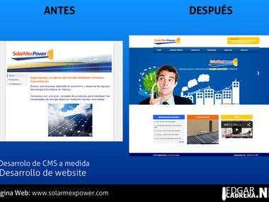 Diseño y desarrollo de página web y CMS a medida.