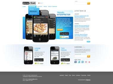 Jourist - Mobile apps developer website