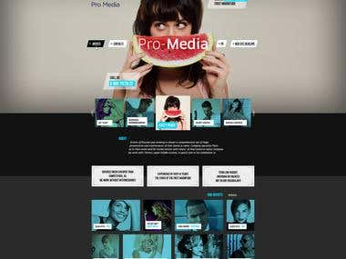 Corporate Site for Media company