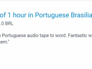 Transcription Portuguese Language