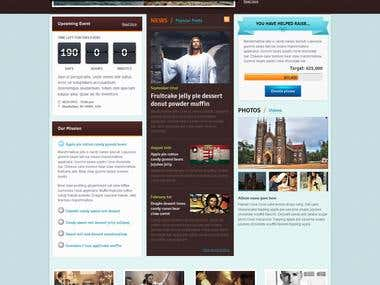 Responsive WP theme for Church