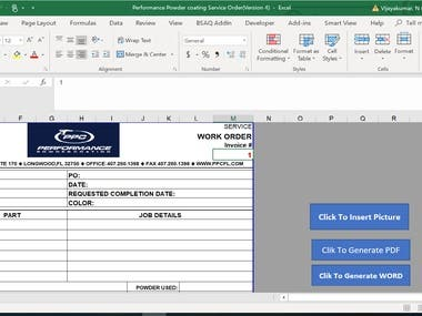 Excel to Word Macro