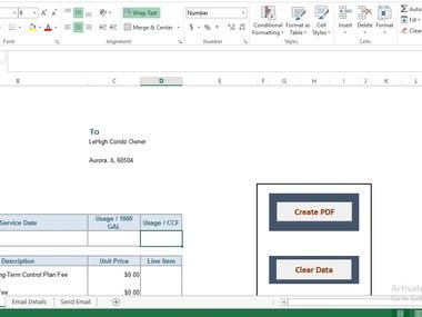 Bill Invoice Creation and Sending through Email