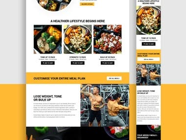 Meal Shop Website
