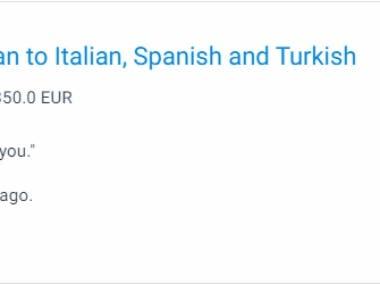 German to Italian , Spanish & Turkish