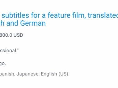 English to Japanese, Spanish & German