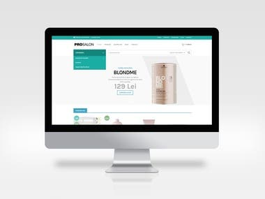 ecommerce website cosmetics