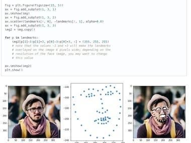 extract_face_landmark using python