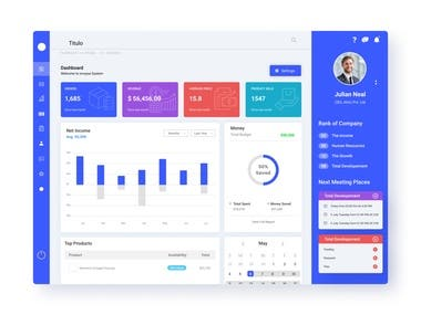 UI / UX Dashboard design and section editing products