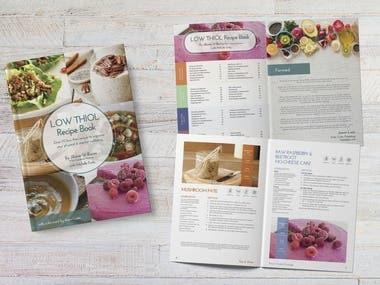 Cookbook / recipe book designs