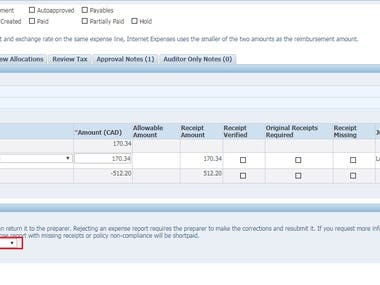 Auditing Oracle iExpenses claim reports with given criteria