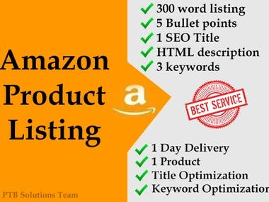 Amazon Product Listing Service