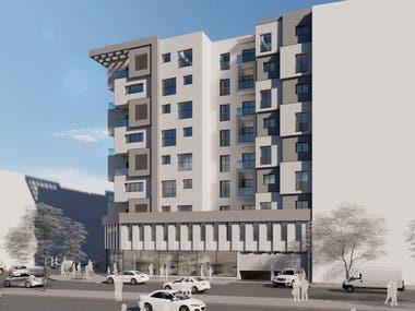G+8 resedential building