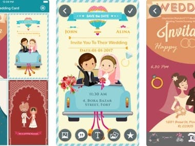 Wedding Invitation & Greeting Cards Maker - Android App
