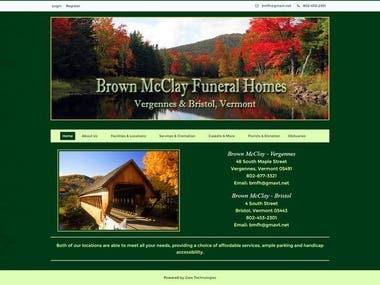 Brown Mcclay funeral homes Website