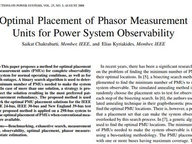 Optimal placement of Phase Measurement Unit(PMU) in IEEE sys
