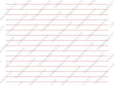 "KDP Paperback Book Interior - 6"" X 9"" - College Ruled"