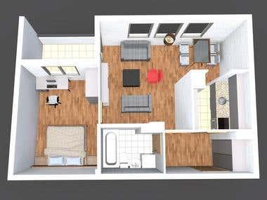 3D apartments buildings renderings