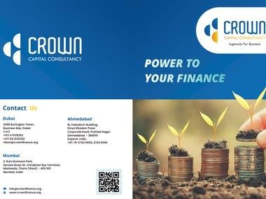 Design a brochure for Crown Finance