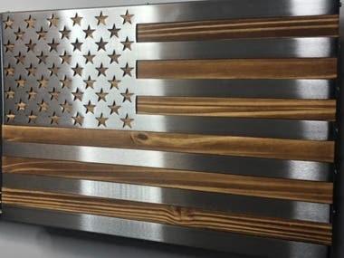 American flag dxf