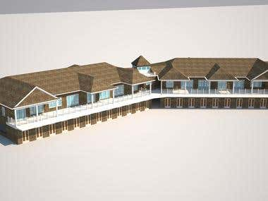 Beach seasonal residence-3d modeling