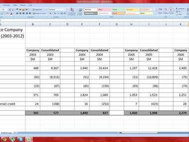 F/S QBE on Excel
