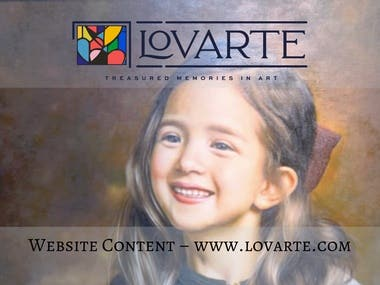 Website Content for lovarte.com