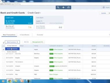 QuickBooks online bookkeeping service