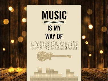 Typography (Music is my Expression)