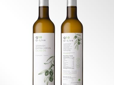 Packaging for an olive oil bottle