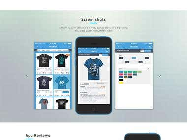 App Landing Page PSD To HTML
