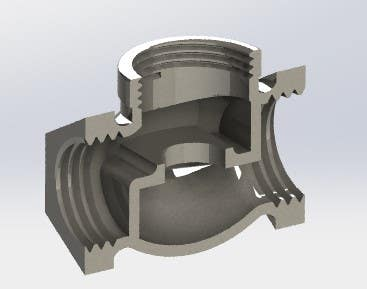 FEMALE T SHAPED PIPE FITTING CONNECTOR