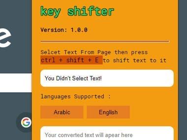 simple multi-language keys shifter