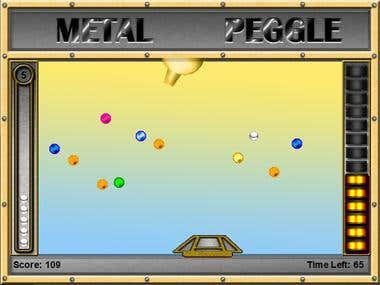 Metal Peggle Game