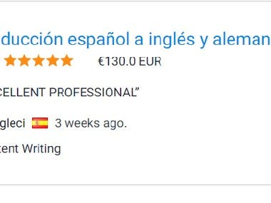 Spanish to English and German translation