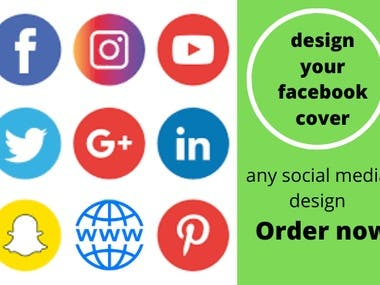 design your facebook cover or any social media cover