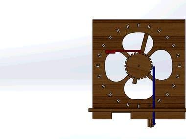 Wooden Tally clock mechanism
