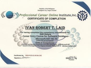 (Philippines) TESDA National Certificate IV