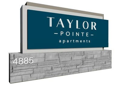Sign Design 3D model and Renders