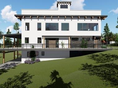 3D rendering for house design