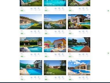 Villa Rental Web Site