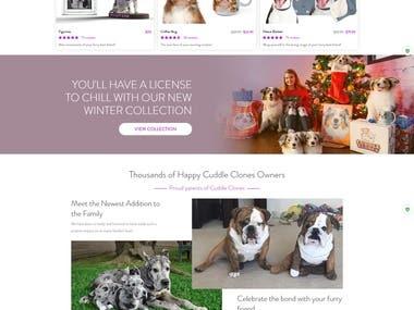 Cuddle Clone Web Site