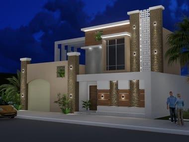 Elevations renovation- 3d modeling