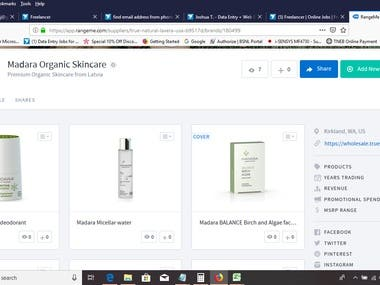 Beauty product adding in online shopping site
