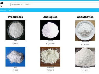 Ecommerce for Selling Powders