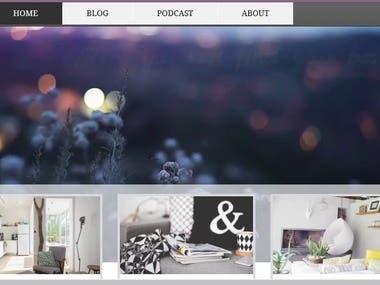 Wix-Blog website