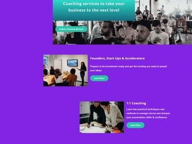 A site for a Australian Coaching exp